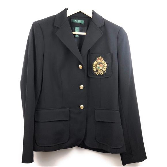 Lauren Ralph Lauren Jackets & Blazers - NWT Lauren Ralph Lauren 100% Wool Black Blazer 8 P